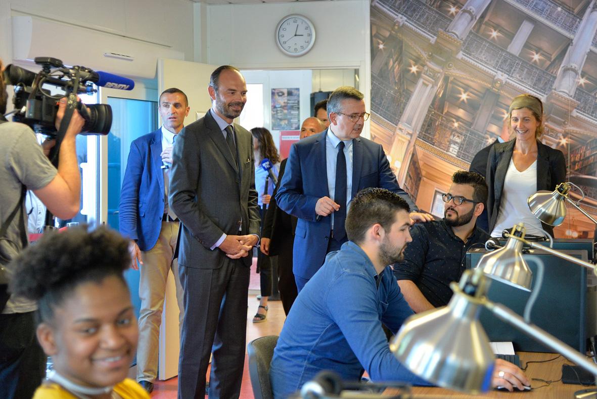 Visite de M. Edouard Philippe, Premier ministre