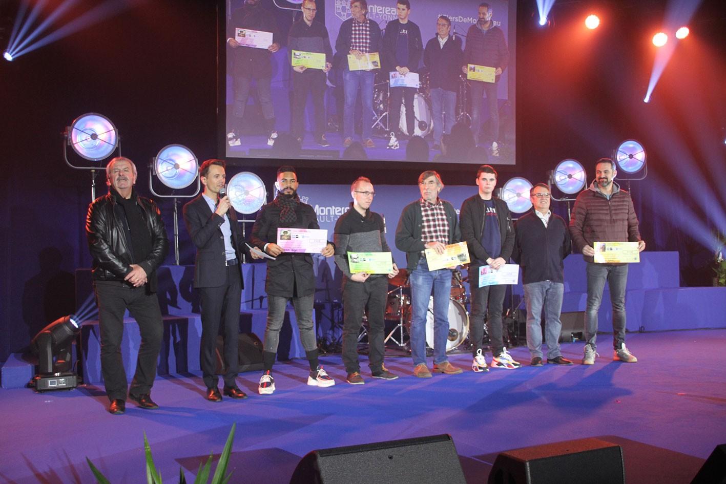 Les lauréats du concours photo «Montereau à la confluence de l'humain et de l'urbain» : Laurent Brun, Nassim Tangi, Jordan Fregona, Thierry Merle et Clément Jouglet.
